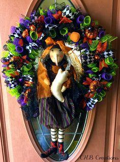 Halloween Wreath Deco Mesh Wreath Halloween Deco Mesh