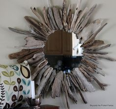 Beyond The Picket Fence: Drifting Away: How to Create A Driftwood Mirror