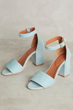 Tangerine Irridescent Heeled Sandals