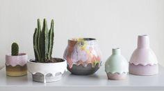 Rainbow Drip Vessels by Brian Giniewski Ceramics