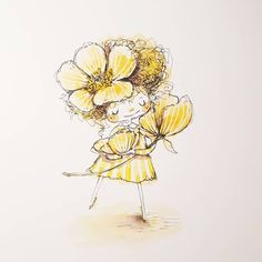 What's up Buttercup?! # 4 of my rainbow of girls   HAPPY FRIDAY!!!!!! Cute Illustration, Happy Friday, Dandelion, Pineapple, Rainbow, Buttercup, Fruit, Flowers, Plants