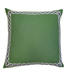 Lacefield Designs Kelly linen with Hampton Trim pillow D626