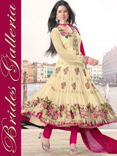 Cream Net Churidar Kameez : Latest Designer Sarees , Anarkali Suits, Salwar Kameez with duppata, Bridal lehenga Choli, Churidar Kameez, Designer Indian Saree Online Store, Wedding Lehenga Choli, Designer Salwar Kameez, Churidar Kameez,