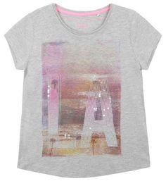 Tee-shirt Gris chiné (taille: 14 ans) pour 19,99 euros