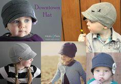 Name: 'Sewing : Downtown Hat pattern unisex Kool Kids, Unisex, Sewing, Hats, Creative, Stitching, Pattern, Costura, Dressmaking