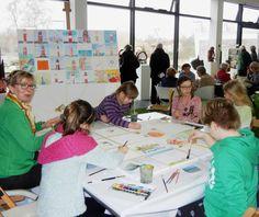 """Malevent bei """"Rostock kreativ"""" in der Kunsthalle Rostock   Kinder malen mit Frank Koebsch bei Rostock kreativ (c) Annett Grabow (3) Artworks, Creative, Kids"""