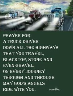 Prayer for a Truck Driver