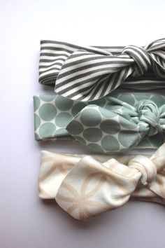 Baby Girls Organic Cotton Headband Set by HollyAnnaHandmade, £16.95