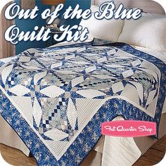 Out of the Blue Quilt Kit by Diane NagleFeatured in American Patchwork