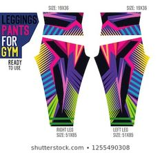 Vector de stock (libre de regalías) sobre pantalones de piernas para el gimnasio1255490308 Workout Attire, Leggings Are Not Pants, Sports Women, Pants For Women, Sewing Patterns, How To Wear, Sport Design, Outfits, Tights
