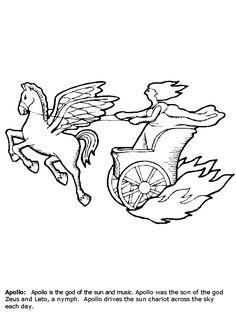 GREEK MYTHS ... Helios Chariot Drawing
