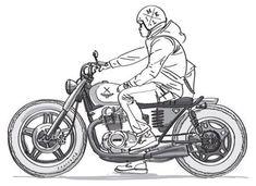 life on a motorcycle Motorcycle Art, Motorcycle Design, Bike Art, Bike Design, Estilo Cafe Racer, Cafe Racer Style, Art Moto, Whatsapp Png, Tatto Old