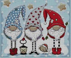 Thrilling Designing Your Own Cross Stitch Embroidery Patterns Ideas. Exhilarating Designing Your Own Cross Stitch Embroidery Patterns Ideas. Cross Stitch Christmas Ornaments, Xmas Cross Stitch, Cross Stitch Art, Christmas Cross, Counted Cross Stitch Patterns, Cross Stitch Designs, Cross Stitching, Cross Stitch Embroidery, Gnome
