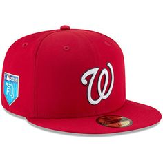 e34c789b96e Men s New Era Red Washington Nationals 2018 Spring Training Collection  Prolight 59FIFTY Fitted Hat
