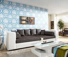 Big Sofa Stella 300x140 cm in Weiss-Grau Strukturstoff mit 10 Kissen Endlich genug Platz für alle! Für Dich auf: https://www.delife.eu/big-sofa-stella-300x140-cm-weiss-grau-strukturstoff-mit-10-kissen/a-2216/?campaign=smm%2Fpinterest