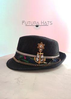 Festival Boho Hat Cotton Roll Brim Hunting Cap Trilby Men Ethnic Head Chic Wear