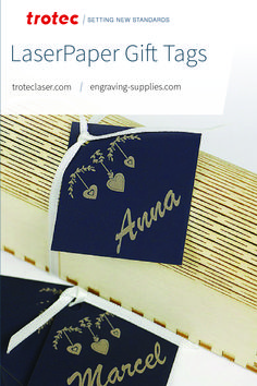 We created personalized gift tags from LaserPaper using a Speedy 360 80W with our new Ruby laser software. Follow the link for a step-by-step tutorial! #troteclaser #trotec #ruby Trotec Laser, Personalized Gift Tags, Software, Knowledge, Link, Gifts, Presents, Favors, Gift