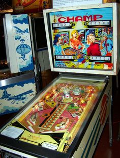 "1973 Champ ""Bally "" Pinball Machine"