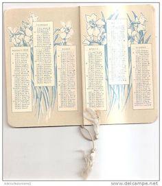 calendario serie almanacco bertelli - anno 1929