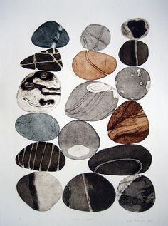 "vjeranski: ""Tessa Horrocks Pebbles are Great (colour series 2)Collagraph """