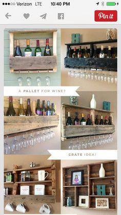 Pallet wine racks
