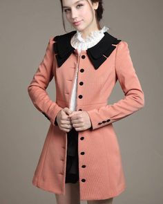 Stylish Long Single Breasted Cotton Blends Women Trench
