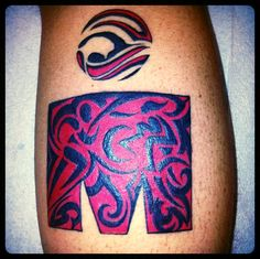 Ironman Tattoo Calf Tribal Triathlon