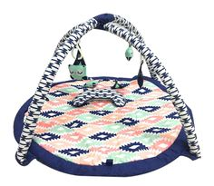 Playmat/Baby Activity Gym with Mat, Aztec Emma Coral/Mint/Navy