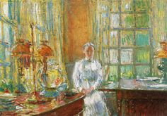 The Athenaeum - Mrs. Holley of Cos Cob, Connecticut (Frederick Childe Hassam - )
