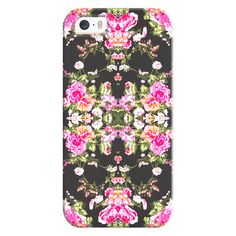 Mod Pink Black Floral Pattern Fashion Kaleidoscope - iPhone 7 Case,... ($35) ❤ liked on Polyvore featuring accessories, tech accessories and iphone case