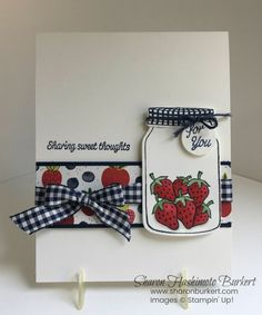 Sharing Sweet Thoughts stamp set and the Tutti-Frutti DSP.