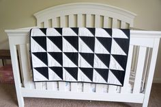 Hello Kelcey: Black and White Triangle Quilt