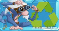 Recycling Diamond Challenge - Animal Jam World Diamond Shop, Animal Jam, Recycling, Challenges, Family Guy, Learning, Animals, Fictional Characters, Art