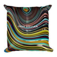 Fresh Stellar Candy Fractal Pillow
