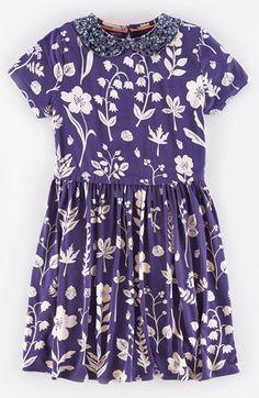 Mini Boden Embellished Peter Pan Collar Short Sleeve Dress (Toddler Girls, Little Girls & Big Girls) available at #Nordstrom