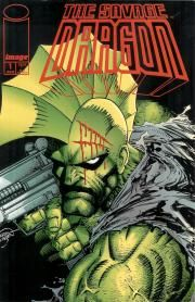 Savage Dragon regular series issue #1. I loved this when I first read it because of how pissed off Dragon was.