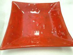 Centro de mesa vermelho 40x40 cm fusing