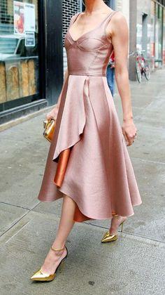 Elegant Midi Dress,Split Prom Dress,A Line Prom Dress,Fashion