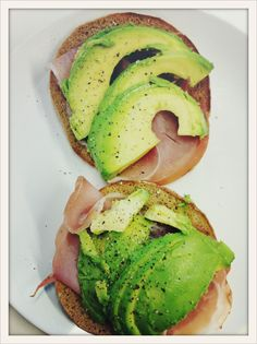 prosciutto and avocado on toast