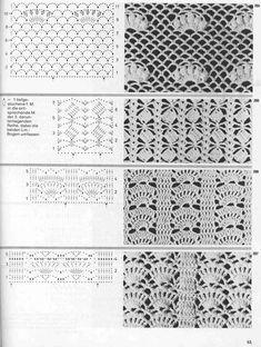"Photo from album ""Burda узоры"" on Yandex. Crochet Chart, Crochet Stitches, Crochet Patterns, Views Album, Knitting, Yandex Disk, Crocheting, Collars, Crotchet Patterns"