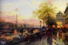 Thomas Kinkade PARIS EIFFEL TOWER Painting