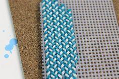 Stitching mesh pattern