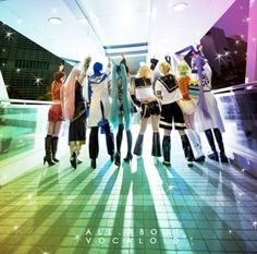 Vocaloid Family - Miku Hatsune, Kaito, Meiko, Ruka Megurine, Rin, Len Kagamine, Gumi, Megupoid, Kamui Gakupo