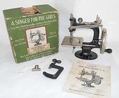 1920 Antique SINGER No 20 Child Sewing Machine Original Box CAST IRON Clamp by backtocapri on Etsy https://www.etsy.com/listing/237016744/1920-antique-singer-no-20-child-sewing