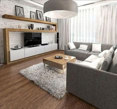 Dekoration Wohnung - Awesome Apartment Living Room Decorating Ideas On a Budget . Casual Living Rooms, Living Room On A Budget, Living Room Remodel, Small Living Rooms, Living Room Modern, Living Room Interior, Small Living Room Wallpaper Ideas, Modern Bedroom, Living Room Wall Colors