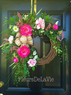 A personal favorite from my Etsy shop https://www.etsy.com/listing/231405047/spring-wreath-spring-wreath-summer: