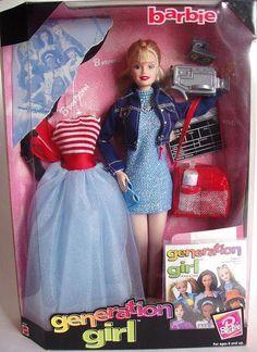 Barbie Generation Girl Barbie doll - Barbie et Britney Barbie Style, Girl Barbie, Barbie 1990, Vintage Barbie Dolls, Barbie Skipper, My Childhood Memories, Childhood Toys, Girls Generation, Barbie Movies