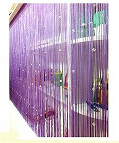 Amazon.com: Eve Split Decorative Door String Curtain Wall Panel Fringe Window Room Divider Blind for Wedding Coffee House Restaurant Parts Crystal Tassel Screen Home Decoration(purple): Home & Kitchen