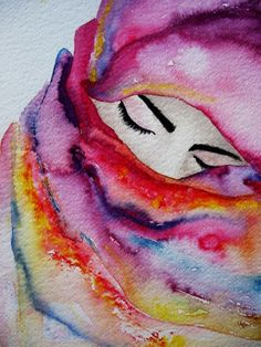 Creative painting ideas i love this watercolor water colour portrait water colour painting ideas water colour . Art Aquarelle, Art Watercolor, Watercolor Paintings Tumblr, Art Amour, Inspiration Art, Love Art, Painting & Drawing, Amazing Art, Art Drawings