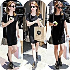 #emmaroberts #boots #leather #disney #cute #styleicon #fashionicon #ny #socialite #style #fashion #instastyle #instafashion #beautiful #givenchy #chanel #wow #hollywood #kendalljenner #hermes #kyliejenner #celine #celinebag #styleicon #perfection #celebrity #streetstyle #hipster #streetfashion #classy... - Celebrity Fashion
